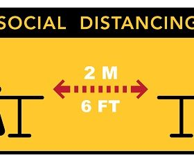 Social Distancing Sign Vector