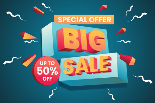 Special offer sale flyer vector