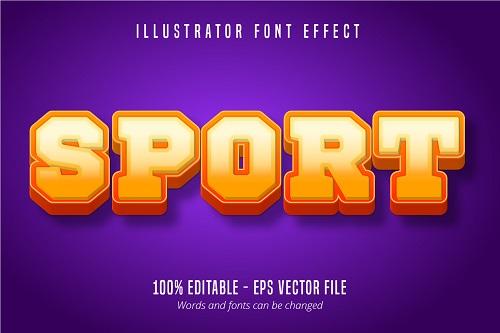 Sport Text Effect Font Vector
