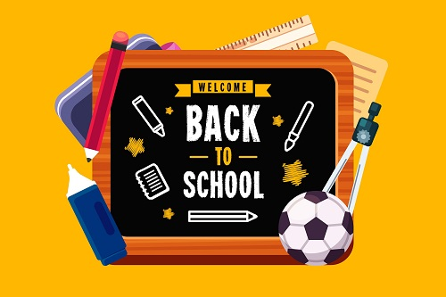 Sports Back To School Background Vector