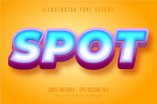 Spot Text Effect Font Vector