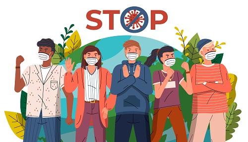 Stop Corona Virus Vector