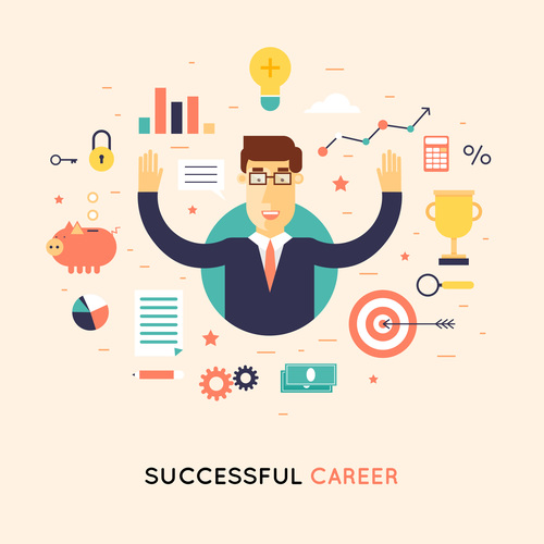 Successful career vector