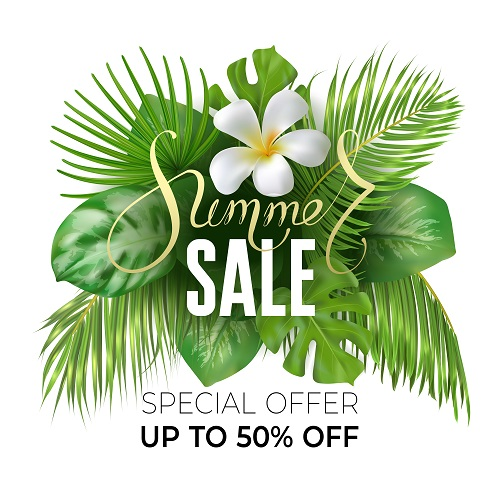 Summer Sale Special Offer Poster Vector