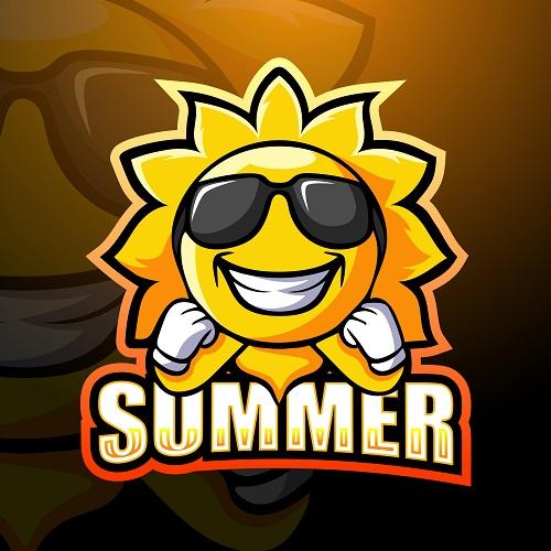 Summer Sun Logo Vector