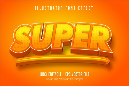 Super Test Effect Font Vector