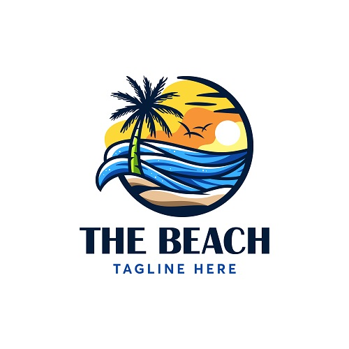 The Beach Logo Vector