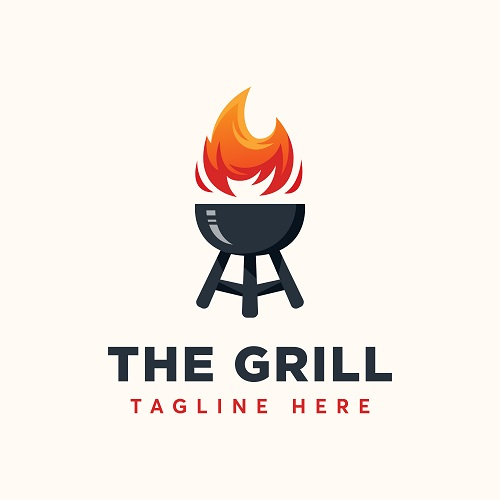 The Grill Tag Line Logo Vector
