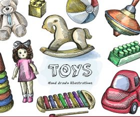 Toys Banner Design Vector