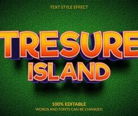 Treasure Island Font Background Vector