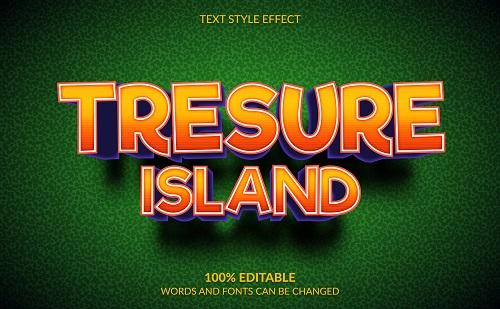 Treasure Island Font Background Vector