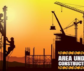 Under Construction Silhouette Vector