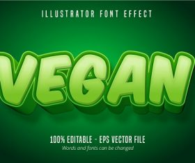 Vegan Text Effect Font Vector