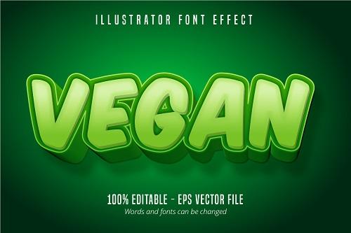 Vegan Text Effect Font Vector