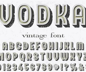 Vodka Sample Vintage Font Vector