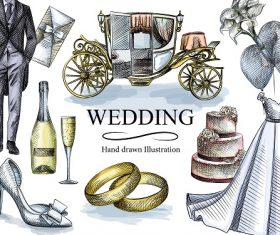 Wedding Decoration Design Vector