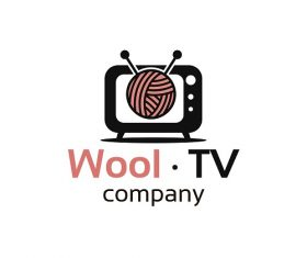 Wool TV Company Sample Logo Vector