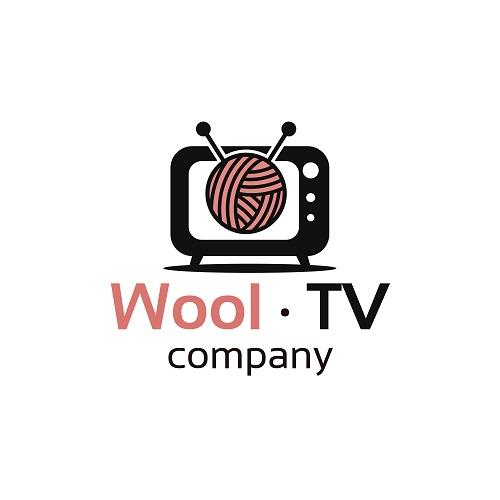 Wool TV Company Sample Logo Vector