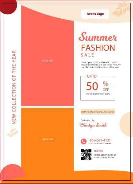 summer promotional flyer