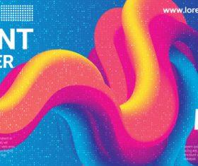 3D abstract liquid background vector
