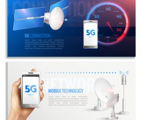 5G connection vector