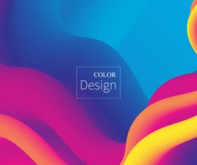 Abstract rainbow liquid background vector