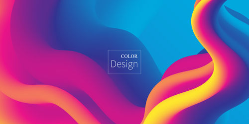 Abstract Rainbow Liquid Background Vector Free Download