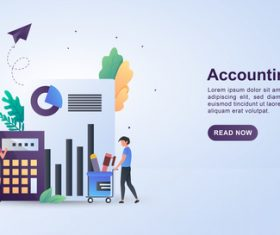 Accounting concept illustration vector