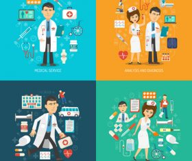 Analysis and diagnosis isometric vector illustration