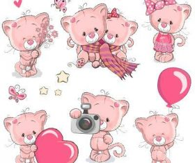 Animal cartoon background vector