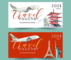 Asia travel coupon vector