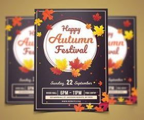 Autumn Flyer Template vector
