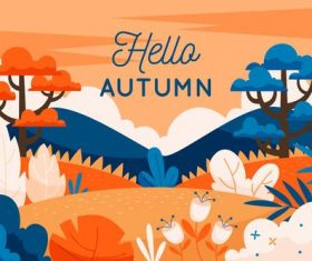 Autumn beautiful scenery background vector