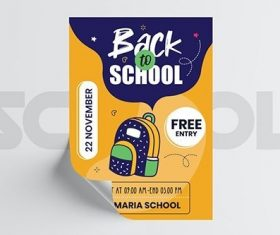 Back to School Flyer Template vector