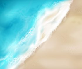Background vector beach