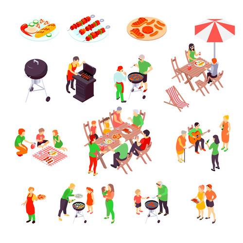 Barbecue party vector