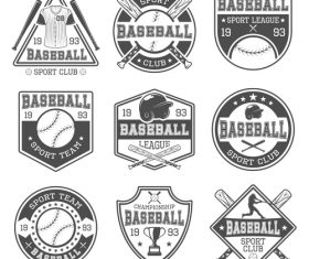Baseball emblems logos vector
