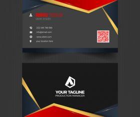 Black elegant business card vector