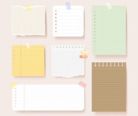 Blank pages stationery illustration vector