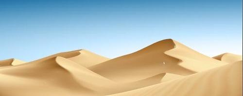 Blue sky desert background vector