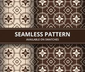 Brown seamless batik pattern vector