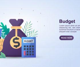 Bugget concept illustration vector