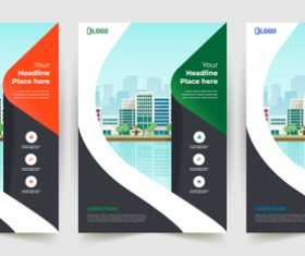 Building business poster banner vector