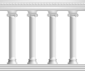 Building stone pillar vector