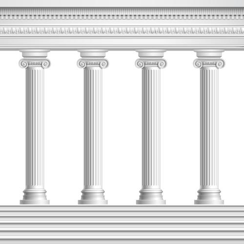 Building stone pillar vector