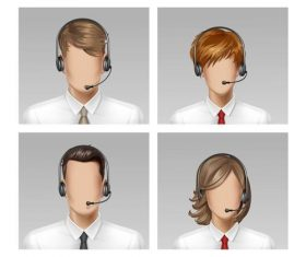 Business male and female face vector