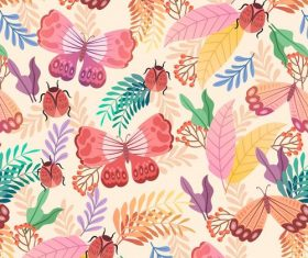 Butterfly background pattern vector