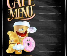 Cafe menu vector