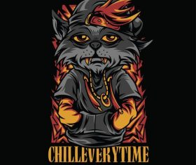 Chill everytime logo vector