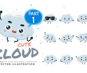 Cloud cartoon character vector